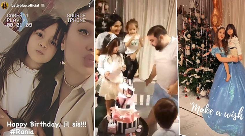 Rania, cea de-a doua fetiță pe care Roxana Dobre o are cu Florin Salam, a împlinit patru anișori ieri © Instagram Stories