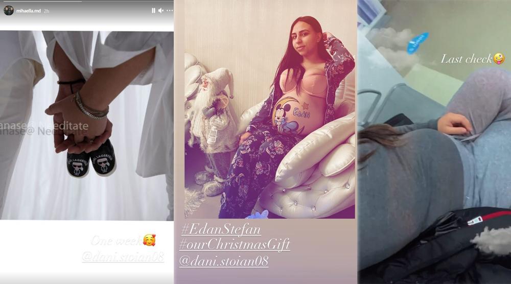 Mihaela David va naște luni, 28 decembrie 2020, un băiețel. Fiul pe care îl are cu Dani Stoian va primi numele Edan Ștefan © Instagram Stories