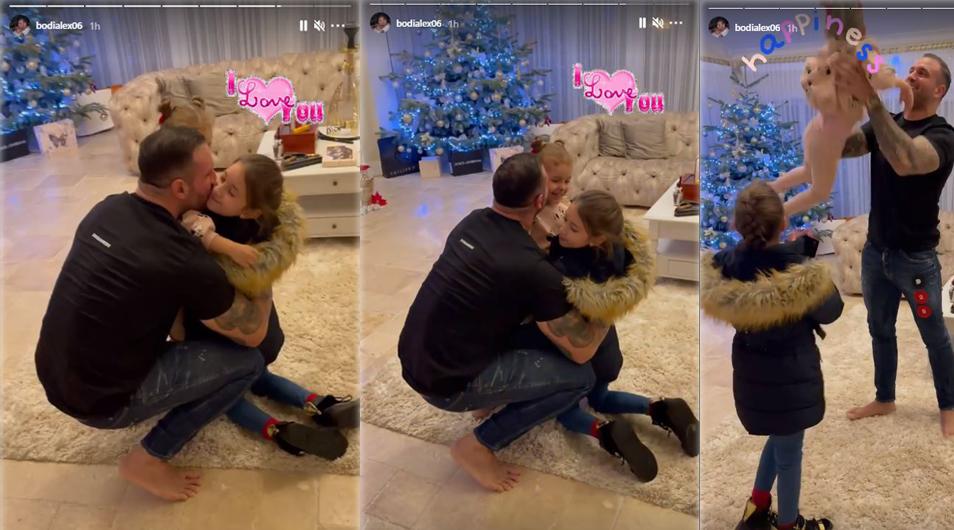 Alex Bodi, clipe emoționante în timpul revederii cu fiica sa cea mare, Chaqueline. În vila din Tunari era și fetița lui cea mică, Selena © Instagram Stories