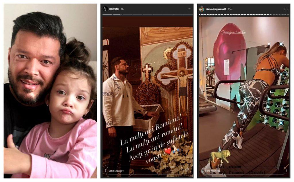 De dragul fetiței lor, Bianca Drăgușanu l-a invitat pe Victor Slav la masa de 1 decembrie și, în cadrul unui interviu, fosta prezentatoare a spus că el poate veni însoțit de iubita lui © Instagram / Instagram Stories