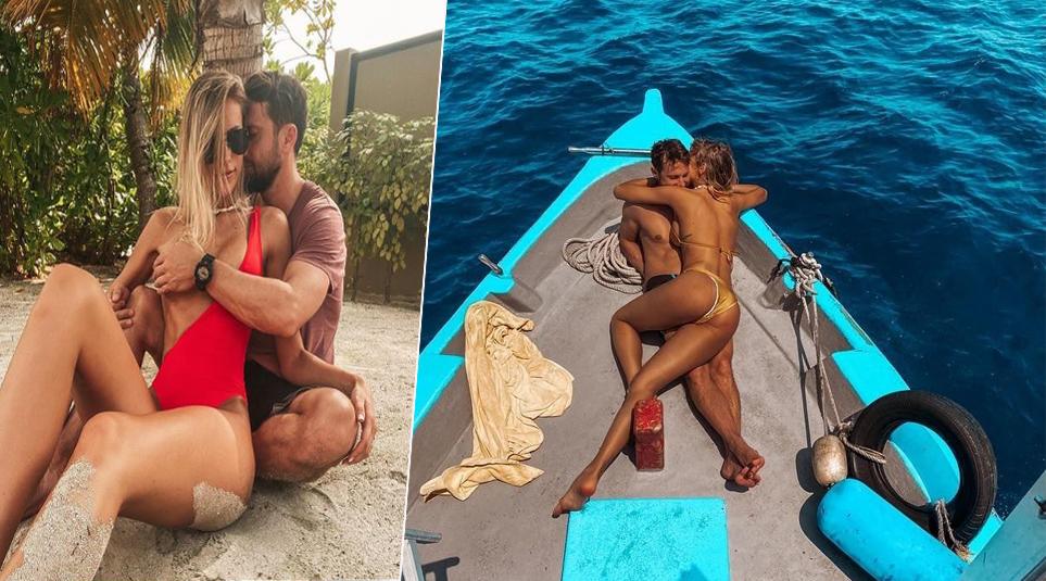 Gabriela Prisăcariu și Dani Oțil au dat frâu liber pasiunii în timp ce se aflau într-o piscină. Ipostaza incitantă în care au fost fotografiați cei doi logodnici - Cancan.ro