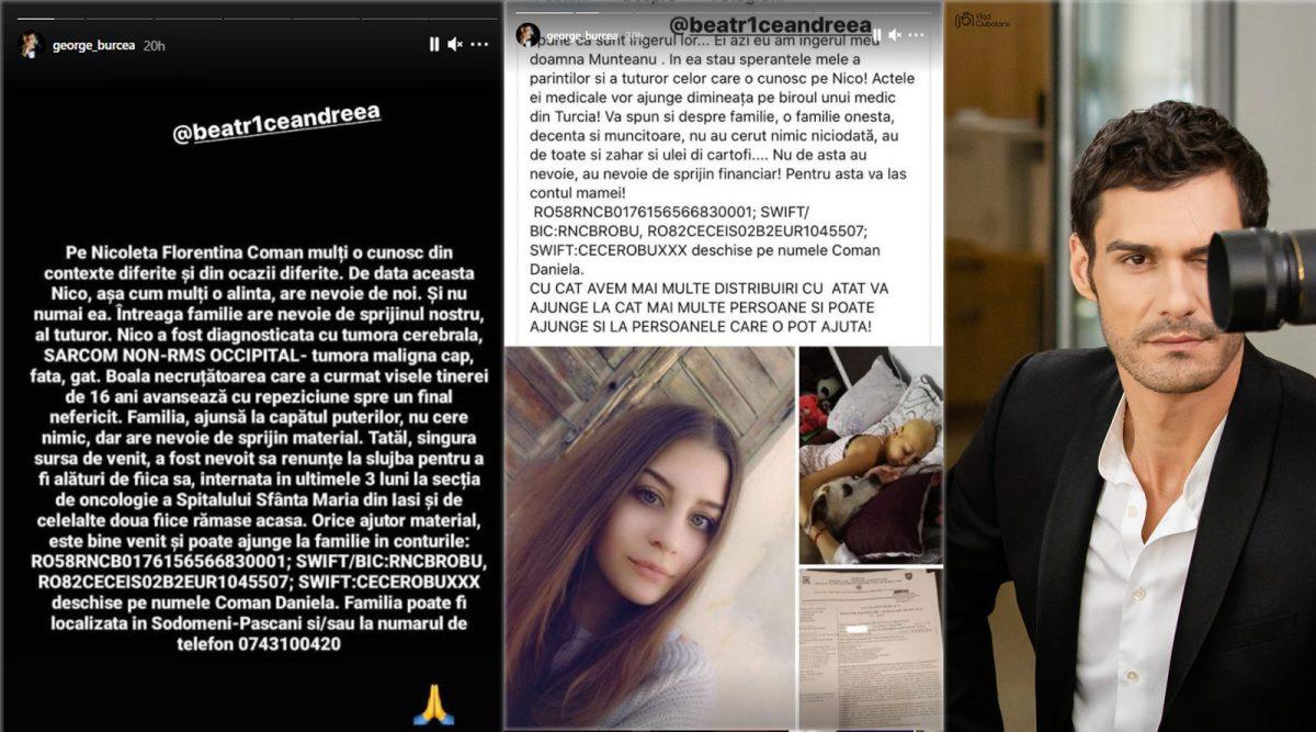 George Burcea, apel emoționant pentru Nico, una dintre prietenele sale care are 16 ani și a primit un diagnostic crunt: Sarcom non-RMS occipital © Instagram Stories & Facebook