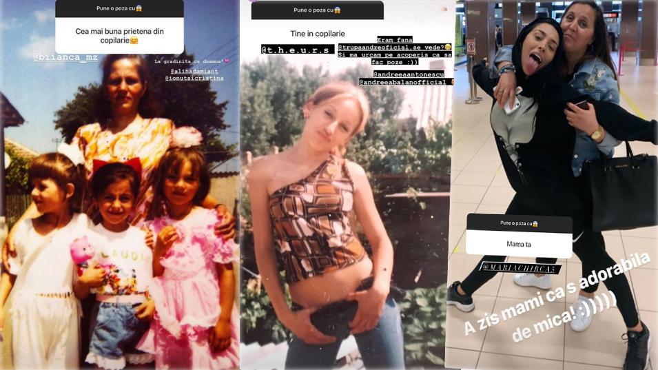 Cântăreața Ruby a publicat recent câteva imagini din adolescență și o poză de album cu mama ei © Instagram Stories