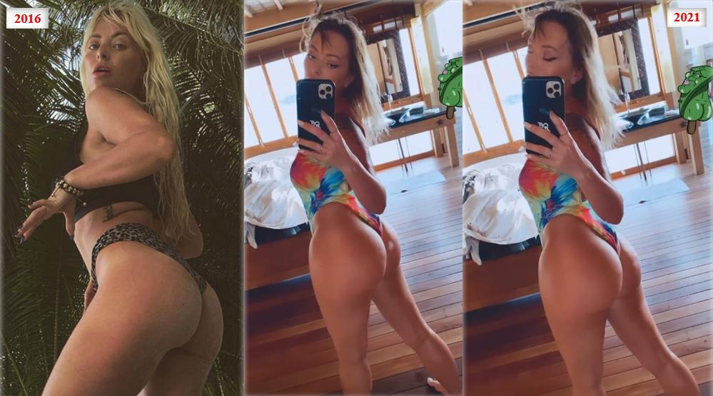 """În vârstă de 39 de ani, Delia """"și-a tunat"""" posteriorul. Cele mai noi imagini postate din vacanța din Maldive """"vorbesc"""" singure despre operația estetică pe care artista și-a făcut-o © Instagram Stories"""