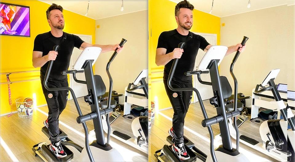 Tavi Clonda are dureri la coloană, iar atunci când face sport, el lucrează doar la bicicletă © Facebook