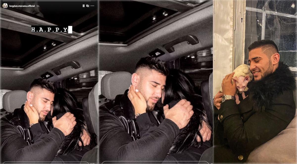 """Fostul concurent de la """"Puterea Dragostei"""" nu își mai ascunde iubita, iar astăzi a publicat prima fotografie cu bruneta alături de care își dorește să devină tătic. Bogdan Mocanu și-a cumpărat recent o felină din rasa Sphynx pe care a numit-o Gucci © Instagram Stories & Facebook"""