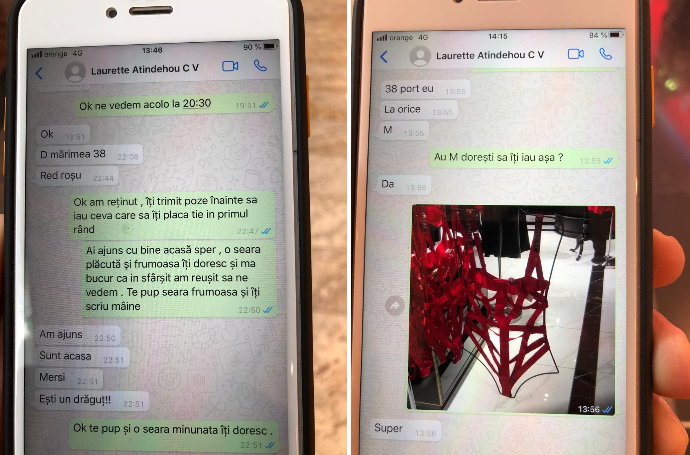 O parte dintre mesajele schimbate de Laurette cu Marian Tătic