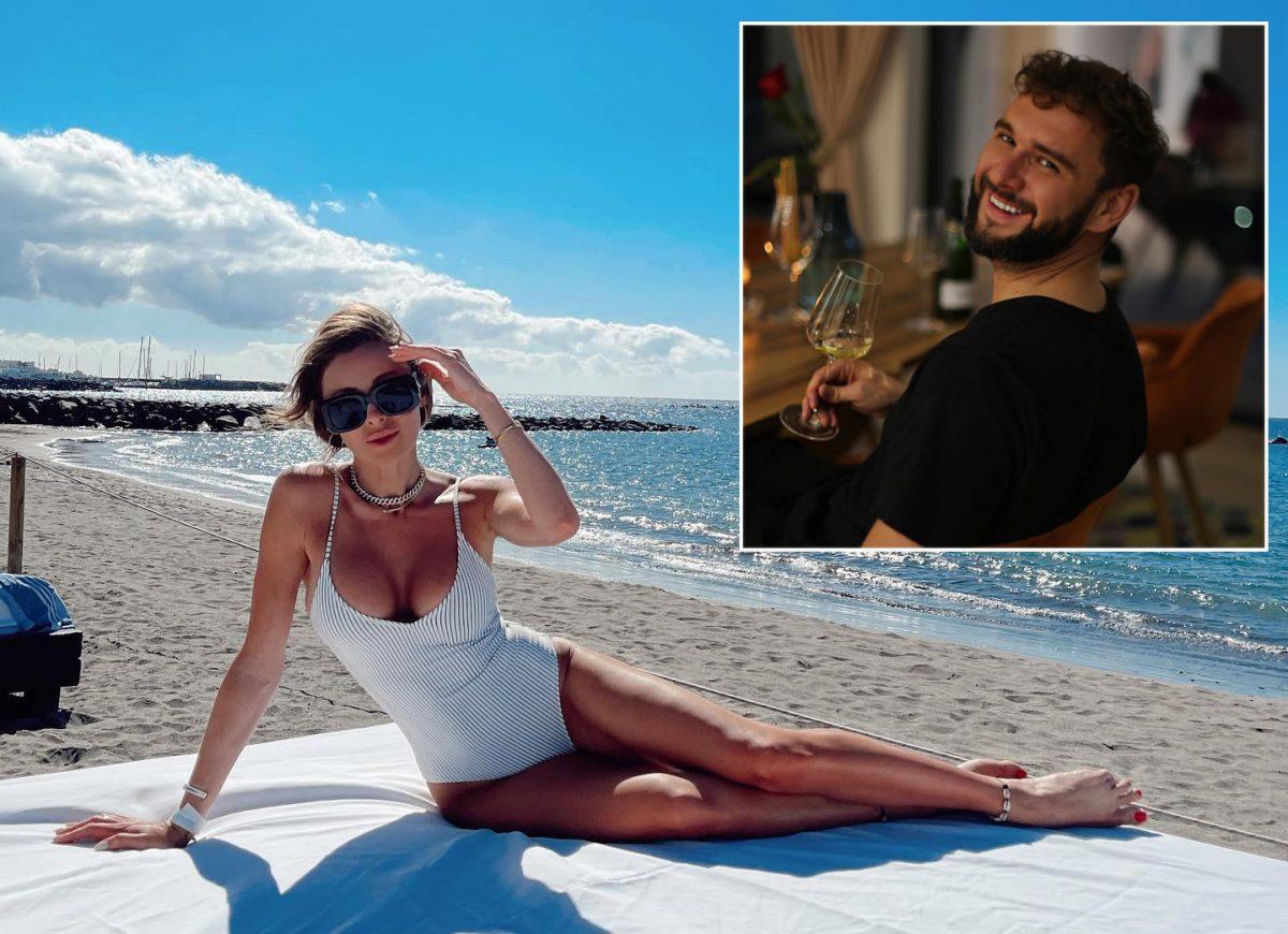 Ioana Chișiu, moment de relaxare în timpul vacanței din Spania pe care a avut-o în urmă cu două luni, iar în imaginea mai mică este iubitul ei, Andrei Kallo © Facebook