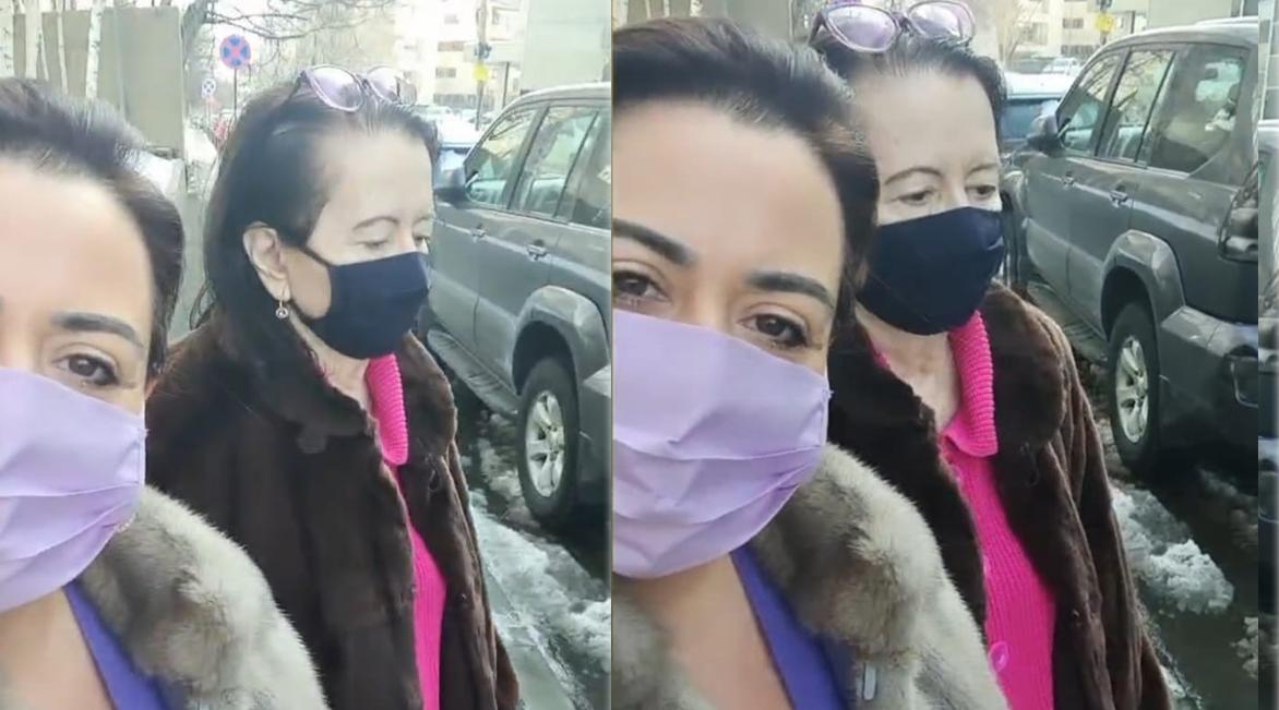 Mioara Roman a mers ieri împreună cu fiica sa cea mică să își schimbe pansamentul de la ultima intervenție chirurgicală pe care a avut-o la finalul lunii trecute © Instagram Stories