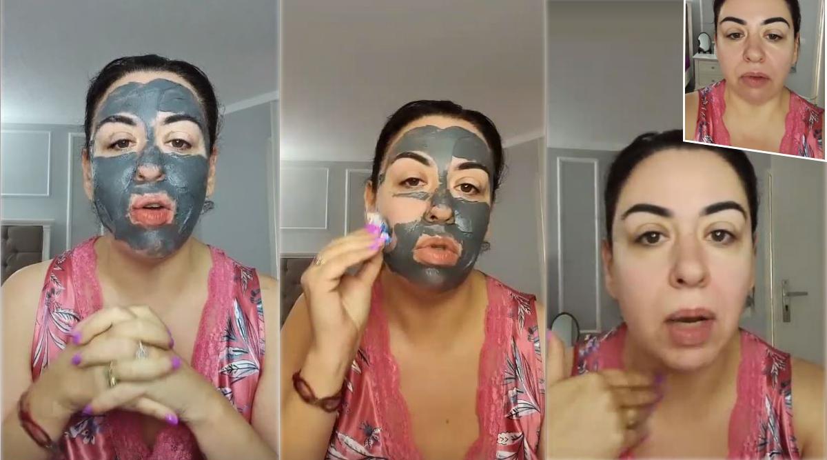 Oana Roman s-a filmat în timp ce și-a aplicat o mască magnetică pe față. Ulterior, ea și-a dat-o jos și, la final, a aplicat un strat de cremă © Instagram Stories