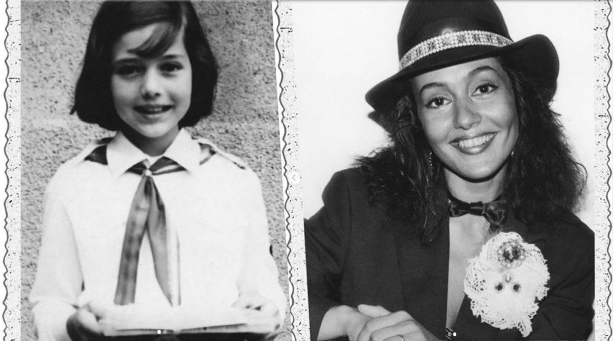 Oana Sîrbu la vârsta de 7 ani (foto stânga) și pe vremea când avea 24 (foto dreapta) © Instagram