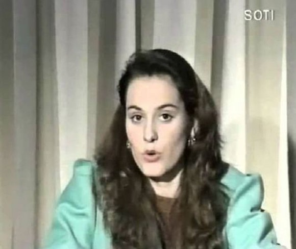 Andreea Esca, la prima ei apariție TV / Sursă foto: Arhivă