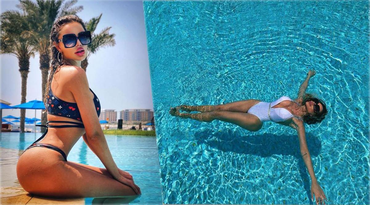 """Iulia Albu a comentat în cadrul emisiunii """"La Măruță"""" aceste două fotografii în care Bianca Drăgușanu apare în costume de baie sexy © Instagram"""